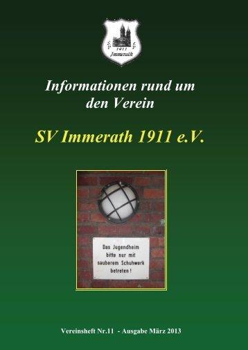 Heft 11 SV Immerath