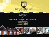 Overview of People & Change Competency Department