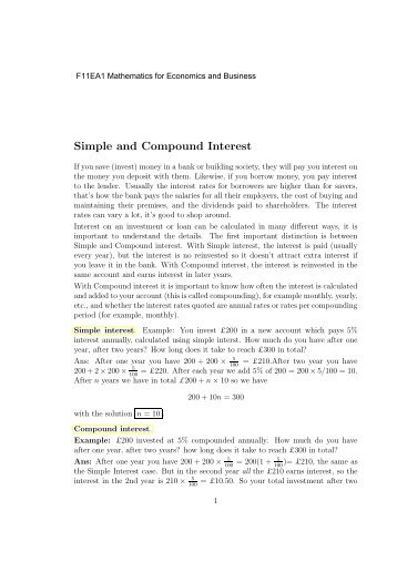 Simple And Compound Interest Worksheet. Simple And Compound ...