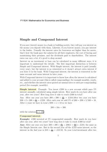 Calculating Compounding Interest Worksheet
