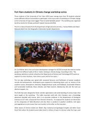 Fort Hare students in Climate change workshop series - University of ...