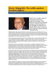 Henry Makgothi: The softly-spoken freedom fighter - University of ...