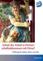 Schutz der Arbeit in Partnerschaftsabkommen mit China?
