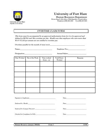 Overtime claim form docushare for Iop journal word template