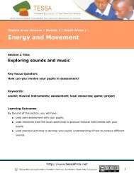 Exploring sounds and music