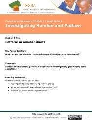 Patterns in number charts