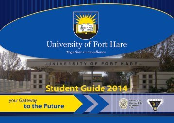 Study Guide 2014 - University of Fort Hare