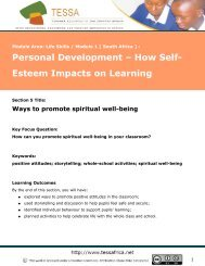 Ways to promote spiritual wellbeing