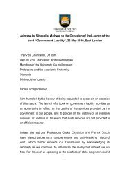 Address by Sibongile Muthwa on the Occasion of the Launch of the ...