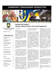 Community Engagement Newsletter_Jan 2010 - University of Fort ...