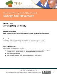 Investigating electricity - University of Fort Hare