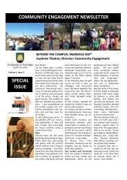 Community Engagement Newsletter - University of Fort Hare