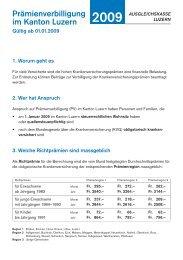 90117_Merkblatt_Praemien:Layout 1 - Ausgleichskasse Luzern