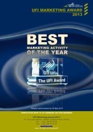 2013 UFI MARKETING AWARD