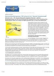 Kommunalwahlprogramm: FDP wünscht sich ... - FDP Karlsruhe