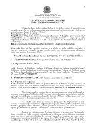 EDITAL Nº 007/2011 - Universidade Federal de Juiz de Fora