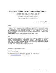 Incontinência Urinária em Pacientes Geriátricos