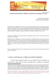 A composição das leituras do vestibular - Universidade Federal de ...