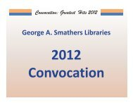 Convocation: Greatest Hits 2012 Presentations IT - George A ...
