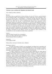 Turismo e Lazer: em Busca da Cidadania e da Inclusão ... - UFMG