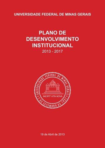 Plano de Desenvolvimento Institucional (PDI) - UFMG