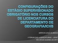 MÁRCIA AJALA ALMEIDA I FÓRUM DAS LICENCIATURAS – UFMT ...