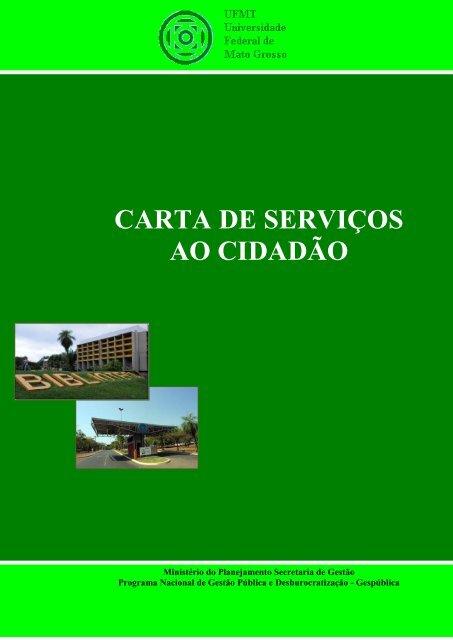 CARTA DE SERVIÇOS AO CIDADÃO - UFMT