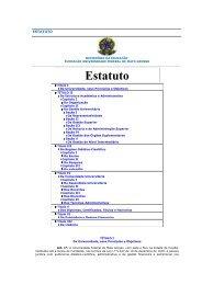 Estatuto - UFMT