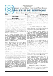 BOLETIM DE SERVIÇOS - UFMT