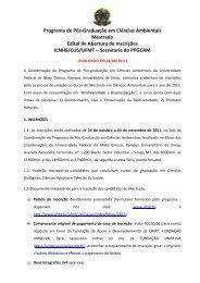 Programa de Pós-Graduação em Ciências Ambientais ... - UFMT