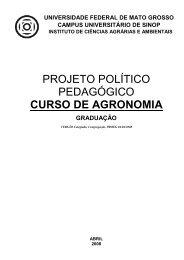 projeto político pedagógico curso de agronomia - UFMT