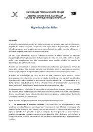 6. Manual de Higienização das Mãos - UFMT