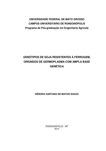 GENÓTIPOS DE SOJA RESISTENTES À FERRUGEM ... - UFMT
