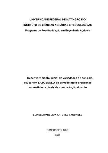 Desenvolvimento inicial de variedades de cana-de- açúcar ... - UFMT