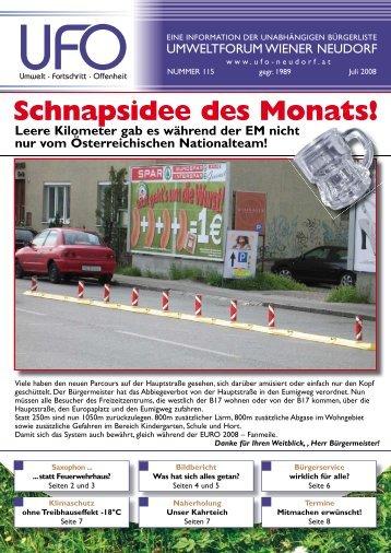 Zeitung Juli 2008 - Umweltforum Wiener Neudorf