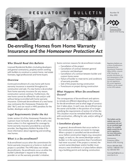 De Enrolling Homes From Home Warranty Insurance And The