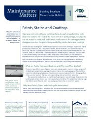 Paints, Stains and Coatings - Homeowner Protection Office