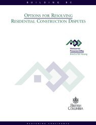 options for resolving residential construction disputes - Homeowner ...