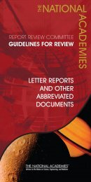 Review Criteria for Letter Reports and Other Abbreviated Documents