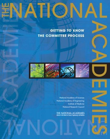 getting to know the committee process - National Academies