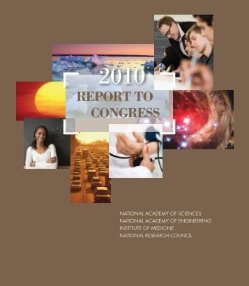 Report to Congress 2010 - The National Academies