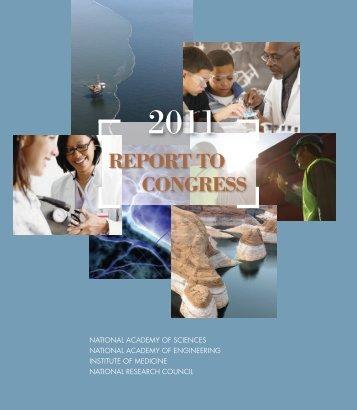 Report to Congress 2011 - National Academies