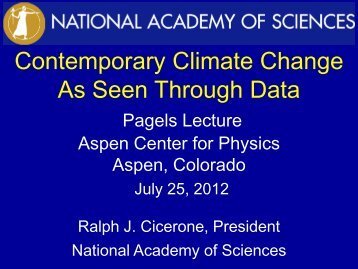 Climate Change - National Academies