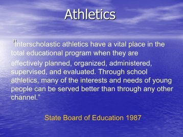 NCHSAA ELIGIBILITY - Public Schools of North Carolina