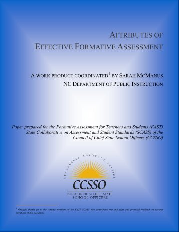 Attributes of Effective Formative Assessment - The Council of Chief ...