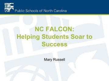 NC FALCON - Public Schools of North Carolina