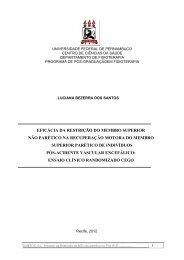 Eficácia da Restrição do Membro Superior Não Parético na ...