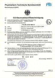 Eg-Baumusterprüfbescheinigung PTB 99 ATEX ... - Flux Geräte Gmbh