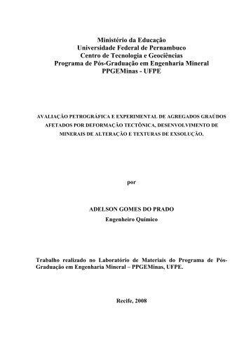 Adelson Gomes do Prado - UFPE - Universidade Federal de ...