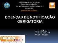 DOENÇAS DE NOTIFICAÇÃO OBRIGATÓRIA - Universidade ...